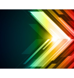 Abstract technology light background vector image