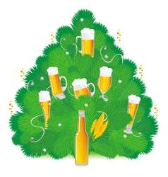 bottled beers vector image vector image