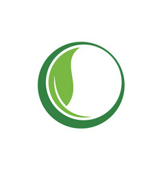 circle green leaf ecology nature vector image vector image
