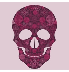 Floral skull Ornate vector image