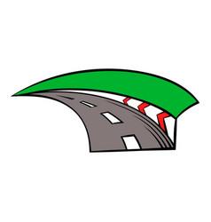 Racing track icon icon cartoon vector