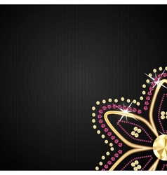 Abstract beautiful black diamond background vector image vector image