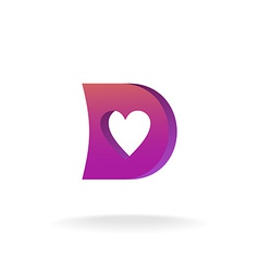 D letter logo template Violet and purple colors vector image vector image