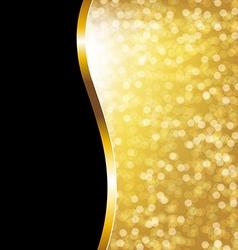 Golden Bokeh Holiday Poster vector image