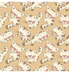 kittens seamless pattern vector image vector image