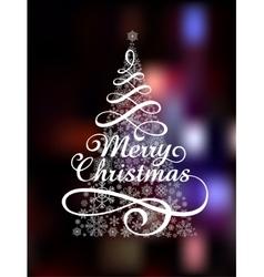 Magic Christmas Tree on abstract colorful vector image
