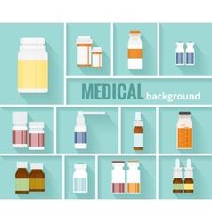 Medication Bottles for Medical Background Design vector image vector image