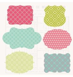 vintage colorful design vector image vector image