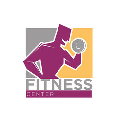 fitness center or gym club sport icons set vector image