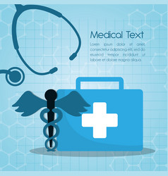 medical first aid kit stethoscope vector image