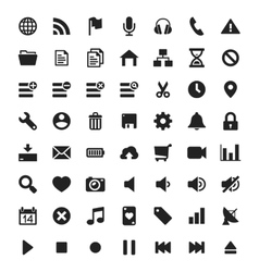 Universal interface and navigation icons vector image