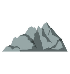 white background with gray silhouette of mountain vector image vector image