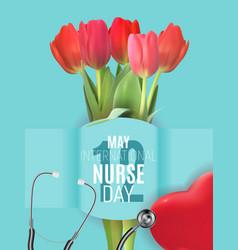 12 may international nurse day medical background vector