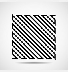 abstract square of line design element vector image