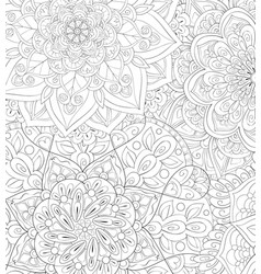 Adult coloring bookpage a cute abstract floral vector