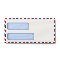 Air mail DL envelope with two windows for addresse vector image