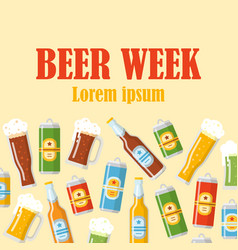 beer week flat poster vector image