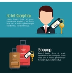 Best hotel set services icons vector