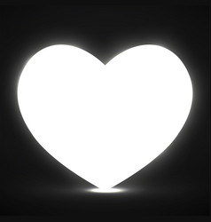 big glowing heart valentines day background vector image