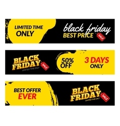 Black friday banners Sale web market vector