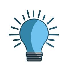 blue power light bulb on vector image