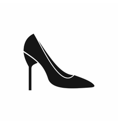 Bride shoes icon simple style vector image