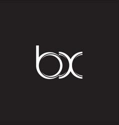 bx initial letter split lowercase logo modern vector image