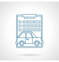 Car insurance services flat line icon vector image