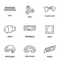 Cheese icons set outline style vector