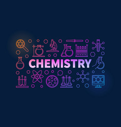 Chemistry colorful vector