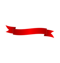 classic red elegant ribbon isolated icon vector image