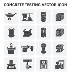 Concrete Testing Icon vector