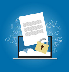 content security file protection document paper vector image