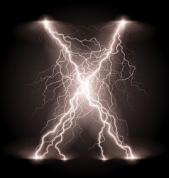 Crosswise lightning lines vector