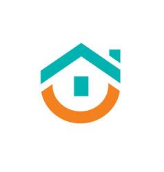 cute house logo design vector image