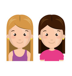 Cute little kids character vector