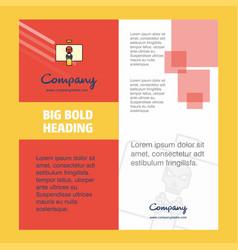 danger board company brochure title page design vector image