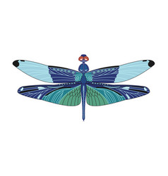 Dragonfly icon in flat style isolated on vector