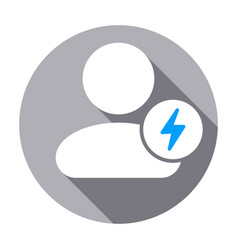 Fast people user icon vector
