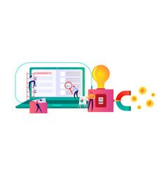 Flat design modern icons set website seo vector