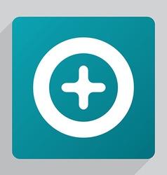flat plus icon vector image