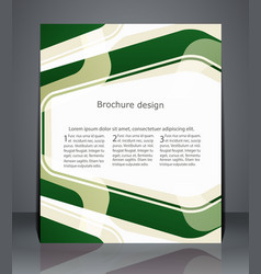 flyer design minimalist template with stripes vector image
