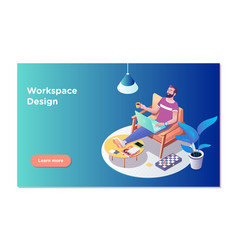 freelancer concept coworking people freelancer vector image
