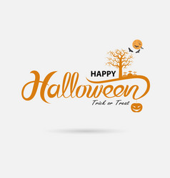 Full moon amp big tree with halloween banner vector