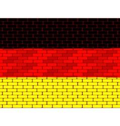 German brick wall vector