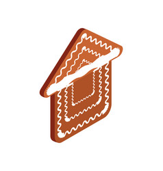 gingerbread house baked cookie isolated vector image