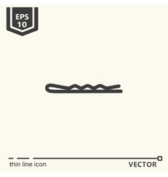 Hairdressing tools Icons series Hairpin vector