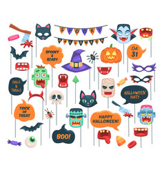 halloween props photo booth requisite speech vector image