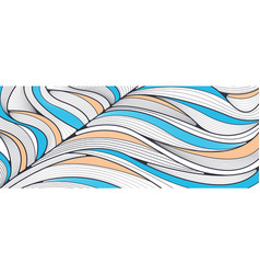 hand drawn lines wave background vector image