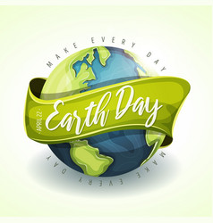 Happy earth day holiday banner vector